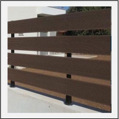 Περίφραξη 4 Deck Wpc με σιδερένια κολωνάκια 71000