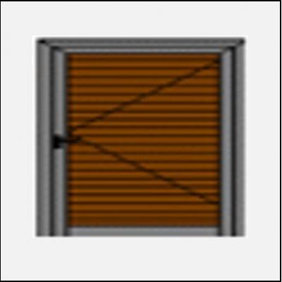 Μονόφυλλο Ανοιγόμενο Πατζούρι