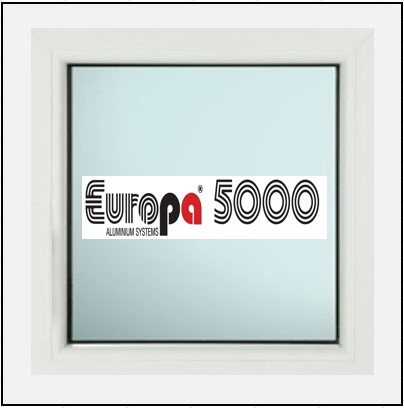 Κούφωμα Αλουμινίου Σταθερό με Τζάμι Europa 5000