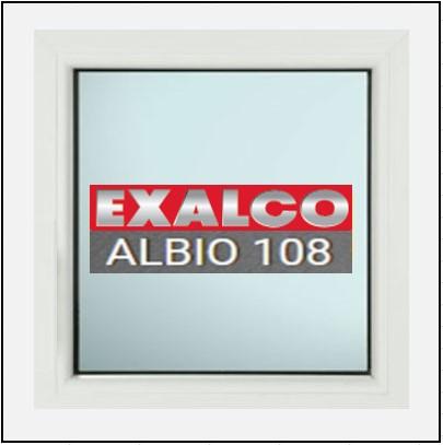 Κουφώματα Αλουμινίου Exalco Albio 108 με σταθερό τζάμι