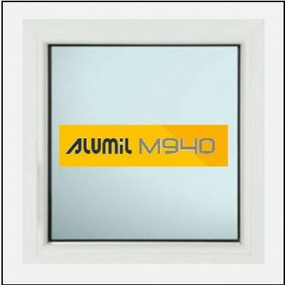 Κουφώματα Αλουμινίου Alumil 940 σταθερό τζάμι