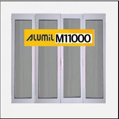 Ενεργειακό Αλουμίνιο Ανοιγόμενο Τετράφυλλο Τζάμι Alumil 11000 Thermo