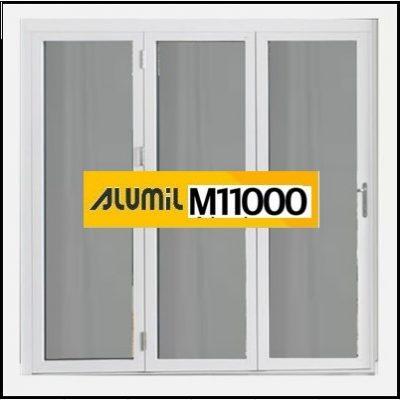 Ενεργειακό Αλουμίνιο Ανοιγόμενο Τρίφυλλο Τζάμι Alumil 11000 Thermo
