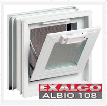 Κούφωμα Αλουμινίου Ανοιγόμενο με Κουμπάσο Τζάμι Exalco Albio 108