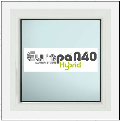 Κούφωμα Αλουμίνιου Σταθερό Τζάμι Europa A40 Thermo