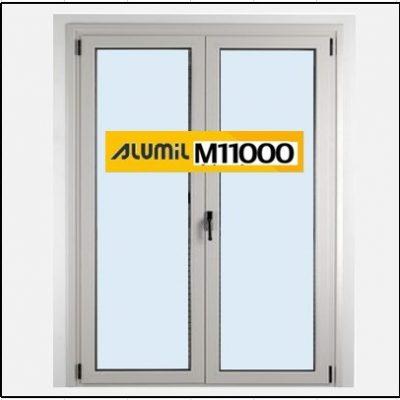 Ενεργειακό κούφωμα Δίφυλλο Ανοιγόμενο Τζάμι Αλουμινίου Alumil 11000 Thermo
