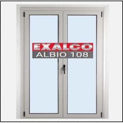 Κούφωμα Δίφυλλο Ανοιγόμενο Τζάμι Αλουμινίου Exalco 108