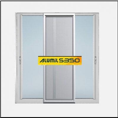 Ενεργειακά κουφώματα αλουμινίου Δίφυλλο Επάλληλο Σήτα Alumil 350 Thermo