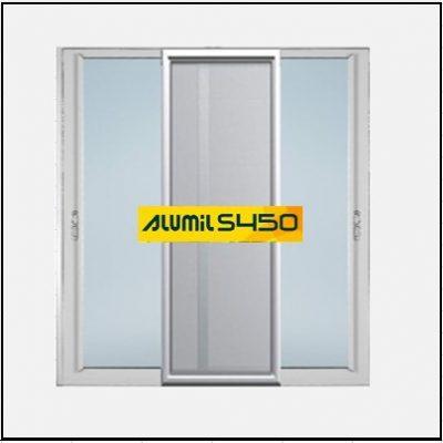 Ενεργειακά κουφώματα αλουμινίου Δίφυλλο Επάλληλο Σήτα Alumil 450 Thermo