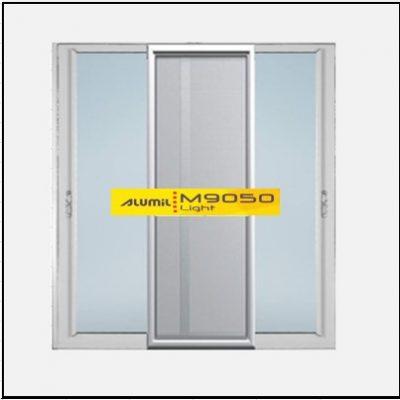 Κουφώματα αλουμινίου Δίφυλλο Επάλληλο Σήτα Alumil 9050 light