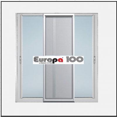 Κουφώματα αλουμινίου Δίφυλλο Επάλληλο Σήτα Europa 100