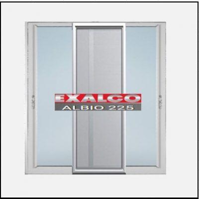Ενεργειακά κουφώματα αλουμινίου Δίφυλλο Επάλληλο Σήτα Exalco Albio 225 Thermo