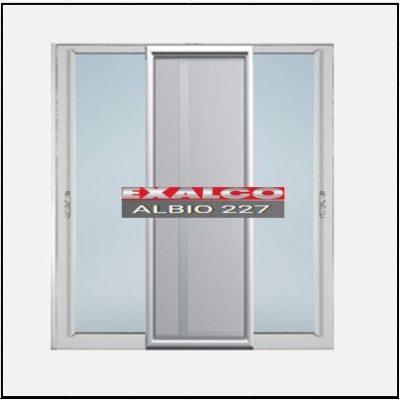 Ενεργειακά κουφώματα αλουμινίου Δίφυλλο Επάλληλο Σήτα Exalco Albio 227 Thermo