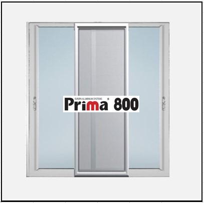 Κουφώματα αλουμινίου Δίφυλλο Επάλληλο Σήτα Prima 800