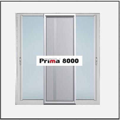 Ενεργειακά κουφώματα αλουμινίου Δίφυλλο Επάλληλο Σήτα Prima 8000 Thermo