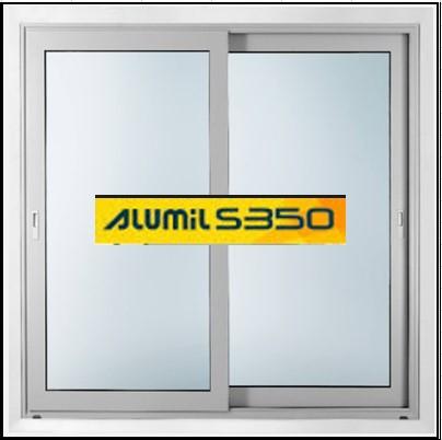 Ενεργειακά κουφώματα αλουμινίου Δίφυλλο Επάλληλο Alumil 350 Thermo