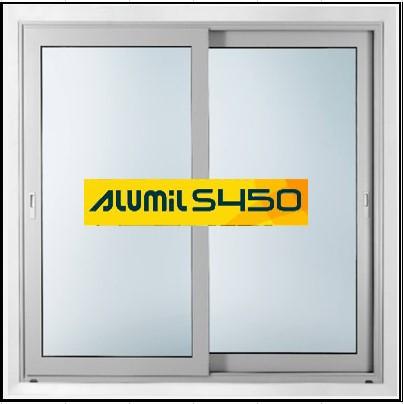 Ενεργειακά κουφώματα αλουμινίου Δίφυλλο Επάλληλο Alumil 450 Thermo