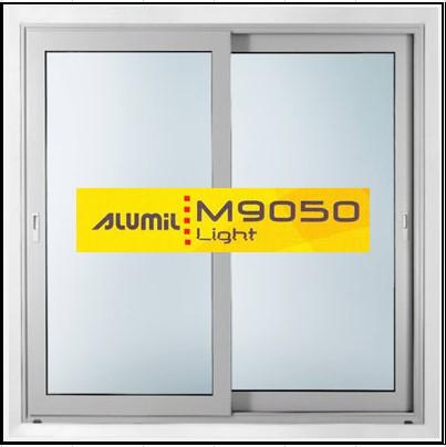 Κουφώματα Αλουμινίου Δίφυλλο Επάλληλο Alumil 9050 light