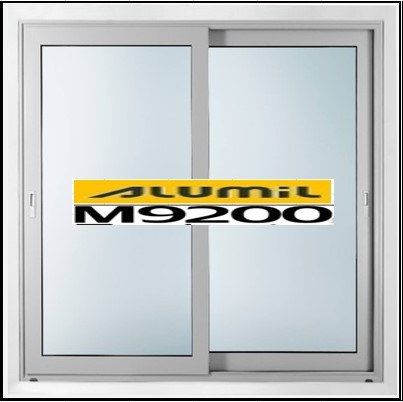 Κουφώματα αλουμινίου Δίφυλλο Επάλληλο Alumil 9200