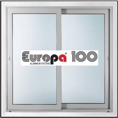 Κούφωμα αλουμινίου Δίφυλλο Επάλληλο Europa 100
