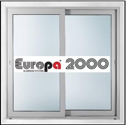 Κουφώματα αλουμινίου Δίφυλλο Επάλληλο Europa 2000