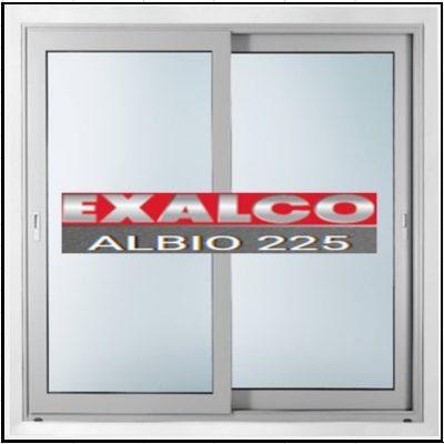 Ενεργειακό κούφωμα Δίφυλλο Επάλληλο Exalco Albio 225 Thermo