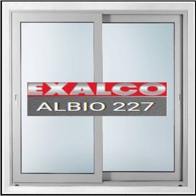 Ενεργειακά κουφώματα αλουμινίου Δίφυλλο Επάλληλο Exalco Albio 227 Thermo