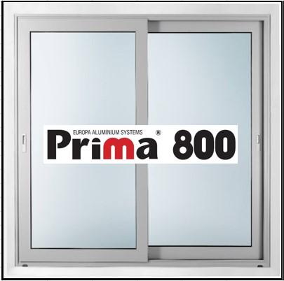 Κουφώματα αλουμινίου Δίφυλλο Επάλληλο Prima 800