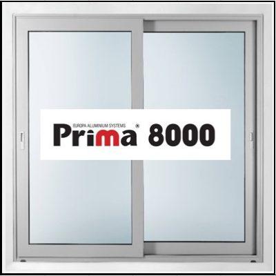Ενεργειακά κουφώματα αλουμινίου Δίφυλλο Επάλληλο Prima 8000 Thermo