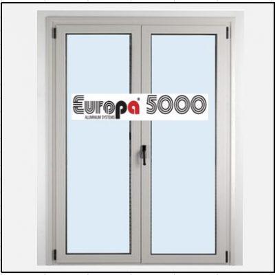 Κούφωμα Αλουμινίου Ανοιγόμενο Δίφυλλο Τζάμι Europa 5000
