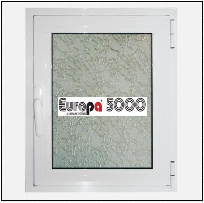 Κουφώματα Αλουμινίου Ανοιγόμενο Μονόφυλλο Τζάμι Europa 5000