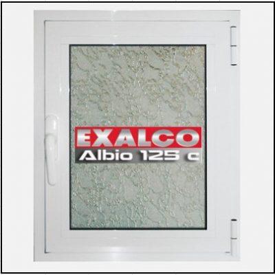 Ενεργειακό Κούφωμα Αλουμινίου Ανοιγόμενο Μονόφυλλο Τζάμι Exalco Albio 125 Thermo