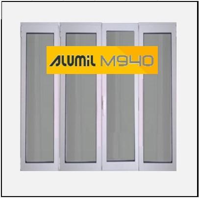 Κούφωμα Αλουμινίου Ανοιγόμενο Τετράφυλλο Τζάμι Alumil 940