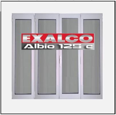 Ενεργειακό Κούφωμα Αλουμινίου Ανοιγόμενο Τετράφυλλο Τζάμι Exalco Albio 125 Thermo