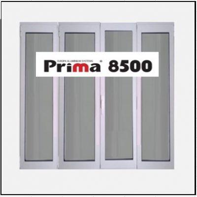 Ενεργειακό Κούφωμα Αλουμινίου Ανοιγόμενο Τετράφυλλο Τζάμι Prima 8500 Thermo