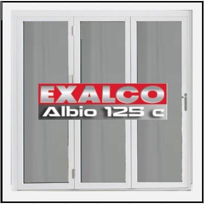 Ενεργειακό Κούφωμα Αλουμινίου Ανοιγόμενο Τρίφυλλο Τζάμι Exalco Albio 125 Thermo