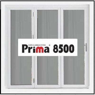 Ενεργειακό Κούφωμα Αλουμινίου Ανοιγόμενο Τρίφυλλο Τζάμι Prima 8500 Thermo