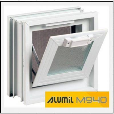 Κούφωμα Αλουμινίου Ανοιγόμενο με Κουμπάσο Τζάμι Alumil 940