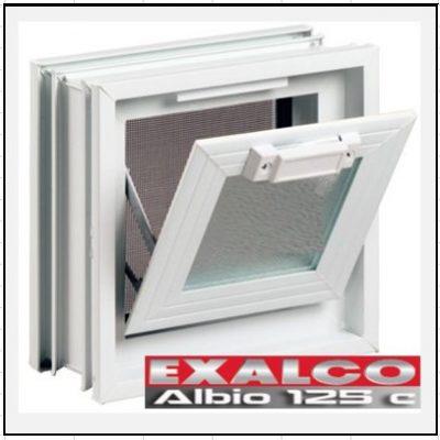 Ενεργειακό Κούφωμα Αλουμινίου Ανοιγόμενο με Κουμπάσο Τζάμι Exalco Albio 125 Thermo
