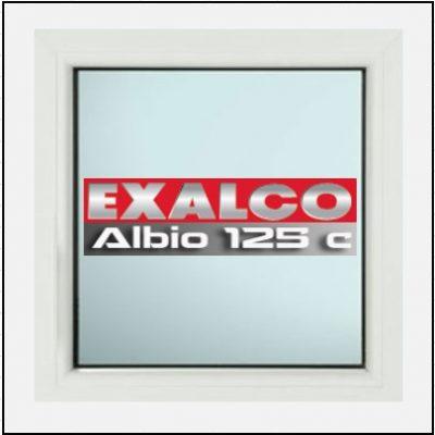Ενεργειακό Κούφωμα Αλουμινίου Σταθερό Τζάμι Exalco 125 Thermo