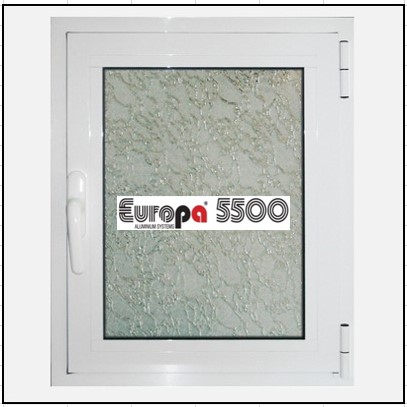 Ενεργειακό Μονόφυλλο Ανοιγόμενο Τζάμι Αλουμινίου Europa 5500 Thermo