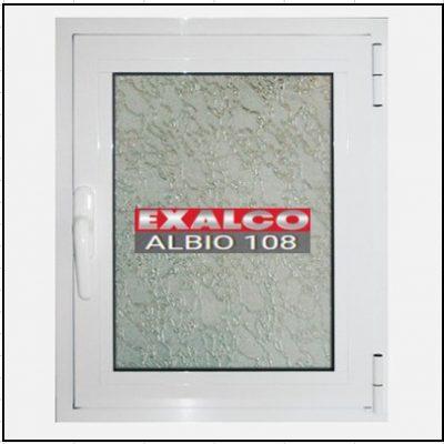 Κούφωμα Μονόφυλλο Ανοιγόμενο Τζάμι Αλουμινίου Exalco Albio 108