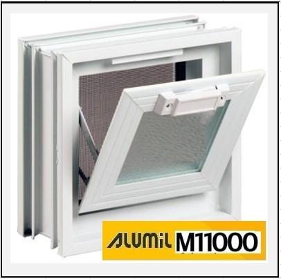 Ενεργειακό Παράθυρο Αλουμινίου με Κουμπάσο Alumil 11000 Thermo