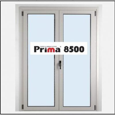 Ενεργειακό κούφωμα Παράθυρο Δίφυλλο Ανοιγόμενο Τζάμι Αλουμινίου Prima 8500 Thermo