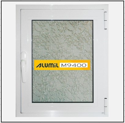 Παράθυρο Μονόφυλλο Ανοιγόμενο Τζάμι Αλουμινίου Alumil 9400
