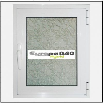 Ενεργειακό Παράθυρο Μονόφυλλο Ανοιγόμενο Τζάμι Αλουμινίου Europa A40 Thermo