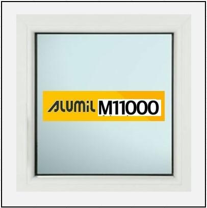 Ενεργειακά Κουφώματα Αλουμινίου Σταθερό Τζάμι  Alumil 11000 Thermo