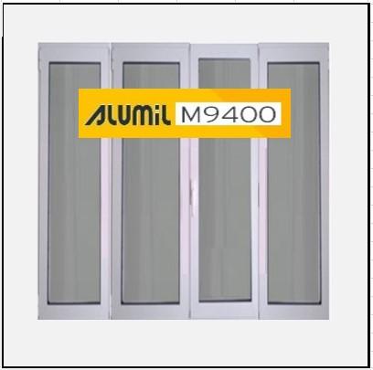 Κούφωμα Παράθυρο Τετράφυλλο Ανοιγόμενο Τζάμι Αλουμινίου Alumil 9400