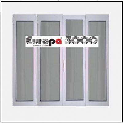 Κούφωμα Παράθυρο Τετράφυλλο Ανοιγόμενο Τζάμι Αλουμινίου Europa 5000