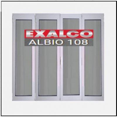 Κούφωμα Παράθυρο Τετράφυλλο Ανοιγόμενο Τζάμι Αλουμινίου Exalco 108